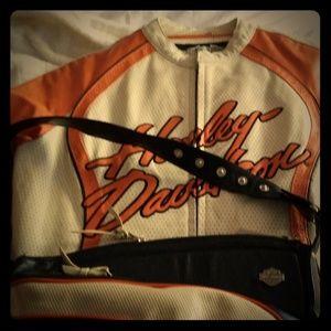 Harley Davidson  leather coat/purse